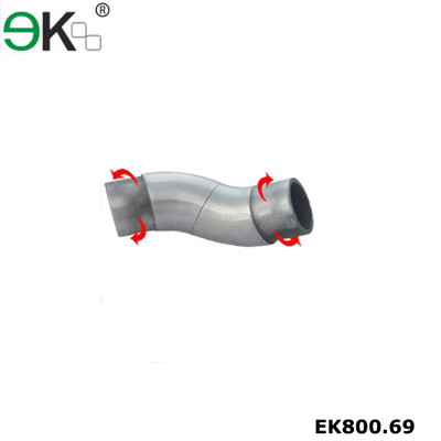Stainless steel tube adjustable handrail elbow flexible pipe connector