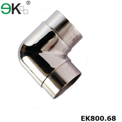Stainless steel handrail flush elbow tube fitting pipe connector