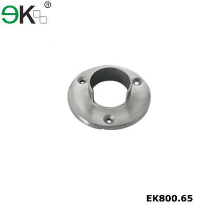 Stainless steel heavy duty railing wall pipe flange