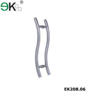 S shape glass pulls sliding patio door handles