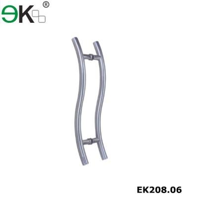 S shape glass pulls sliding patio door handles