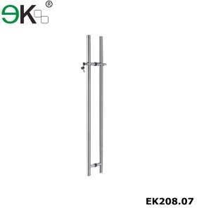 Stainless steel market glass door hardware handle