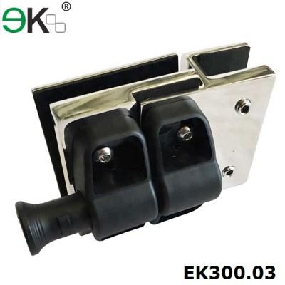 Australia Standard frameless magnetic glass gate latch