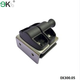 square post to glass spring loaded magnetic door latch
