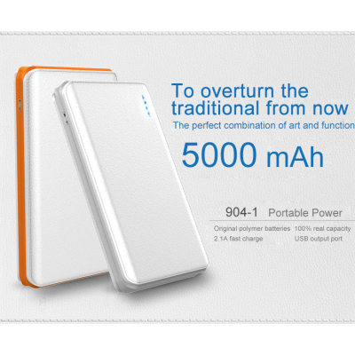 2018 hot selling High Quality 5000mAh Smart Power Bank for Mobile Phone