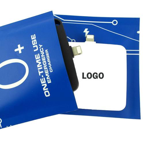 One use emergency power bank 800mah 600mah 1000mah customs logo free