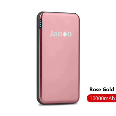 Janon Fast Charger 18W  Portable Mini Power Bank 10000mah Aluminum Shell