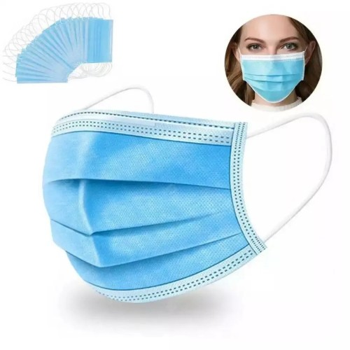 High Protective 3 layer non-woven fabrics ear loop disposable protective DIY face mask for sale