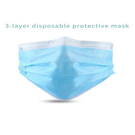 High-quanlity 3ply non-woven fabrics disposable mask Earloop made in china