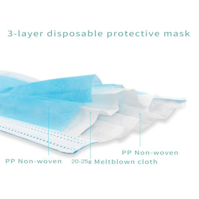3 - ply face mask dental used disposable plastic eye shield face mask with best price