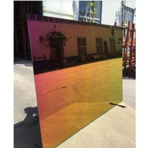 Rainbow colorful aluminum mirror
