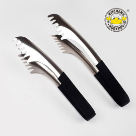 High quality stainless steel kitchen food serving tongs