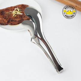 New premium metal tongs cook bbq tong bread meat serving food tong