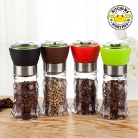 Made in China Black Salt/Pepper/Spice Grinder Set Burnisher