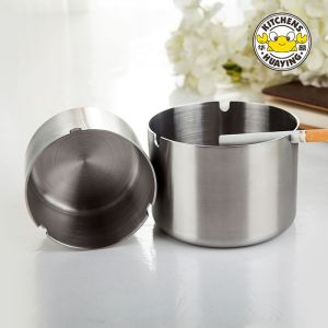 High Quality Stainless Steel Deep Stainless Steel Ashtray For The Kitchen