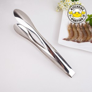 Hot selling BBQ Stainless Steel Clever Kitchen Tongs