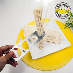 Spaghetti Measure Gadgets Stainless Steel pasta measuring tool Ruler with 4 Serving Portions