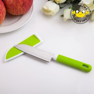 China Factory new products kitchen knife with plastic cover