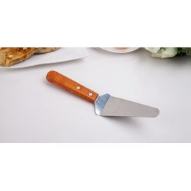 Stainless Steel Triangle Shovel Cake Spatular With Wooden Handle