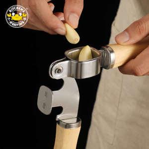 Stainless Steel Hand Squeeze Garlic Press Chopper Ginger Crusher Masher Garlic Peeler Mincer Kitchen Tool