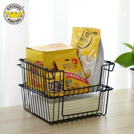 Iron metal kitchen home bathroom art storage wire mesh basket