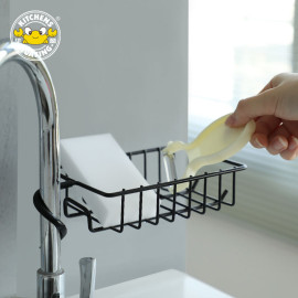 Storage Holders & Racks Punch-free Sponge Faucet Storage Rack