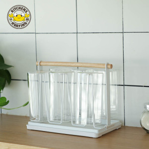 Living Room Kitchen Stainless Steel Coffee Cup Shelf