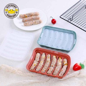 6 Cavities Non-Stick Silicone Homemade Hot Dog Sausage Mold