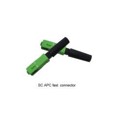 SC / APC FTTH Fast Connector FTTH Cable de fibra óptica interior / exterior