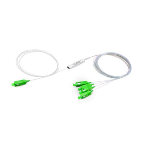 Single Mode Simplex 1M Mini SC / APC 1 * 4 1 * 8 Splitter de Fibra Óptica
