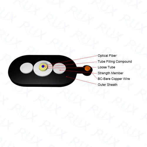 Toneable FTTP apretado Buffered interior / exterior gota fotoeléctrica híbrida Cable