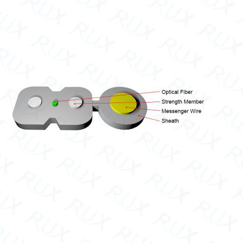 Cable de fibra óptica al aire libre Figura 8 de baja fricción