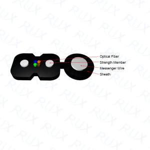 Fabricante Popular venta 1/2/4 Core exterior FTTH Drop Cable para la venta