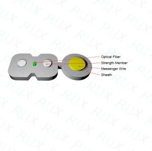 Cable de Fibra Óptica G657A de baja fricción gris LSZH de baja fricción