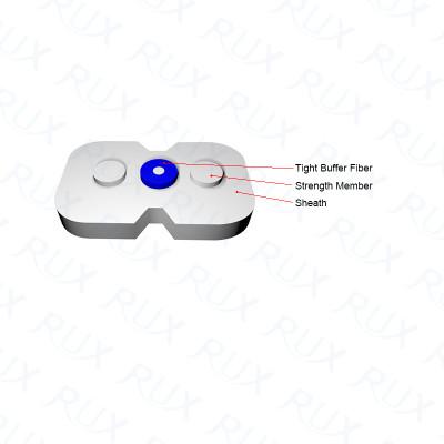 Cable de fibra óptica de interior de modo simple 2.0 * 3.0 FRP para el uso de redes