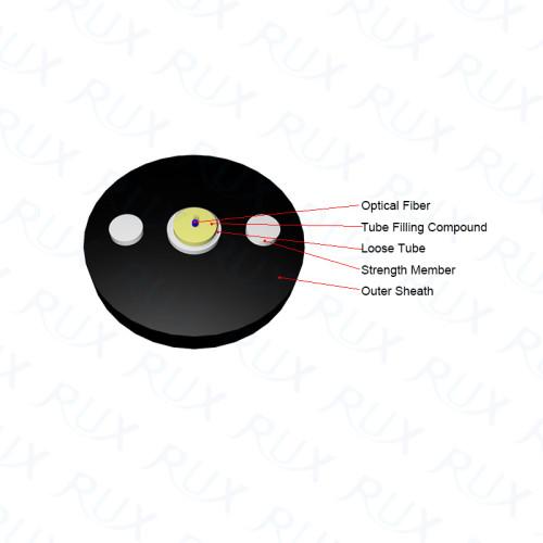Cable de fibra óptica con armadura exterior Unitube para exteriores Cable de fibra óptica para exteriores; FIGURA BAJA FIGURA 8 CABLE DE FIBRA OPTICA PARA EXTERIORES