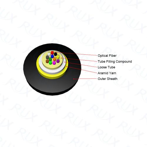 Cable de fibra óptica solo modal del tubo flojo central al aire libre o del conducto GYXTY