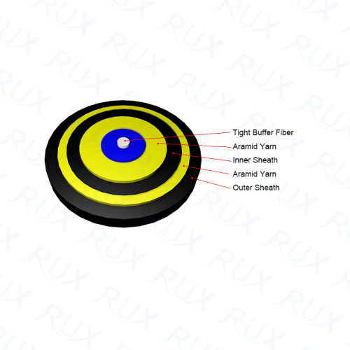 Cable de fibra óptica para interiores Simplex double Jacket 1 core