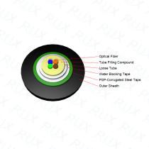Cable de fibra óptica GYXTS Unitube PSP Armored 2/4/6/8/12 Core monomodo