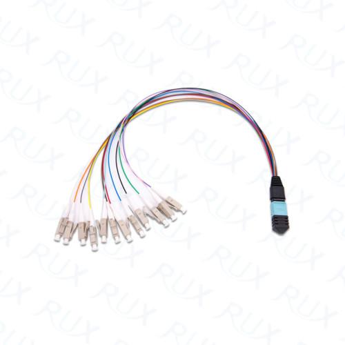 Cable de conexión y cable de arnés abanico MPO / MTP de 12/24/36/48/72/96/144 fibras