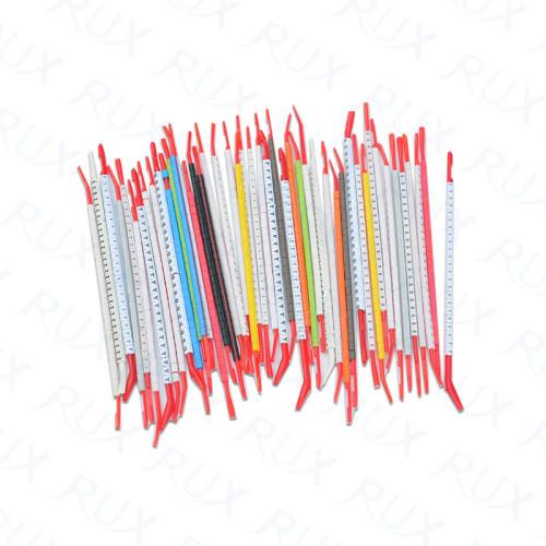 Marcador plástico durable del cable del PVC del plástico en multicolor