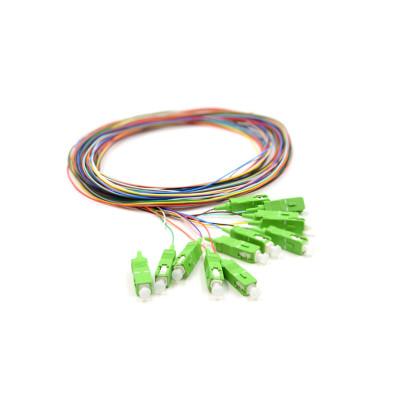 12 núcleos fibra óptica 0.9mm SC SM monomodo fibra óptica coleta