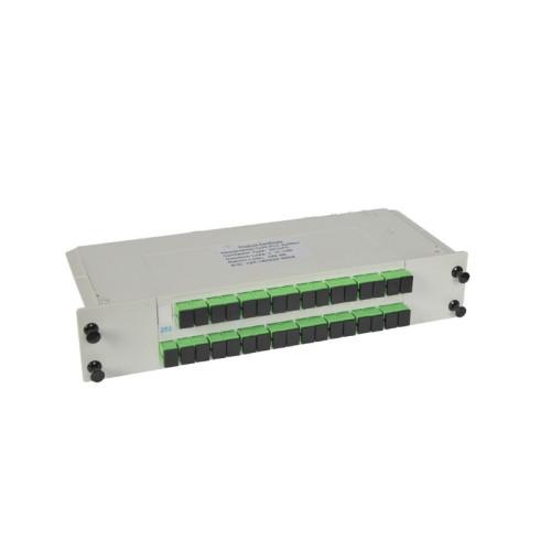 Divisor del PLC del casete de fibra de FTTH 1 * 32 de la fuente