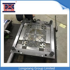 Longxiang PP injeção moldada de 4 vias Inserção de molde de paletes de plástico reversível