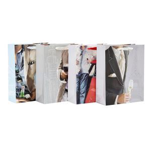 高品質の白いカード紙のギフトバッグは、男性のための詰め合わせで詰め合わせ
