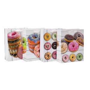 День рождения попробовал пончики с днем рождения бумажные подарочные пакеты с 4 дизайнами сортирует в Tongle Packing