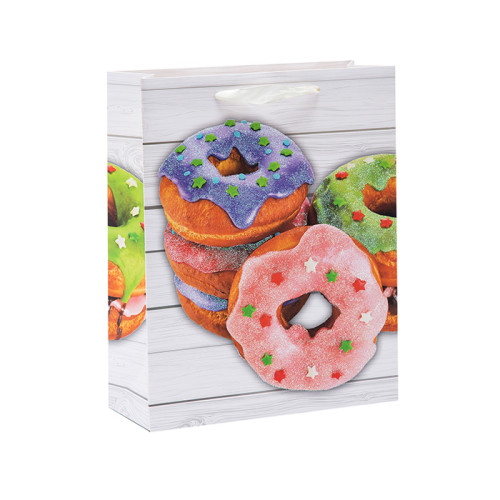 Geburtstag geschmeckt Donuts alles Gute zum Geburtstag Papier Geschenktüten mit 4 Designs sortiert in Tongle Verpackung