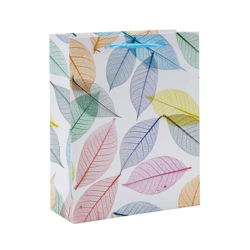 Sacs-cadeaux colorés de papier de feuille avec 4 conceptions assorties dans l'emballage de Tongle
