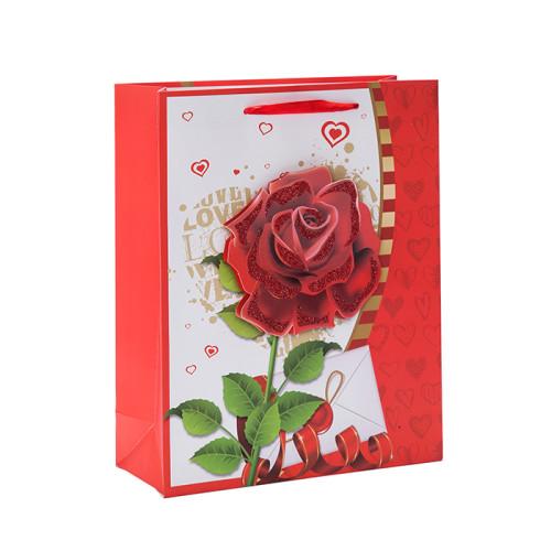 私のバレンタインデー紙のギフトバッグは、4つのデザインがトングルパッキングで揃っています