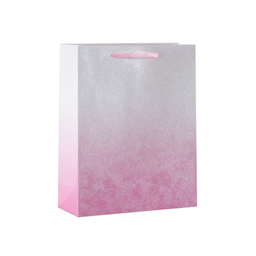 Brillantes bolsas de regalo de papel de fiesta del arco iris con 4 diseños surtidos en Tongle Packing